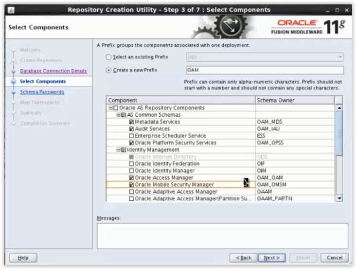 Repository Creation for Oracle Access Manager 11g(OAM series-Part1)