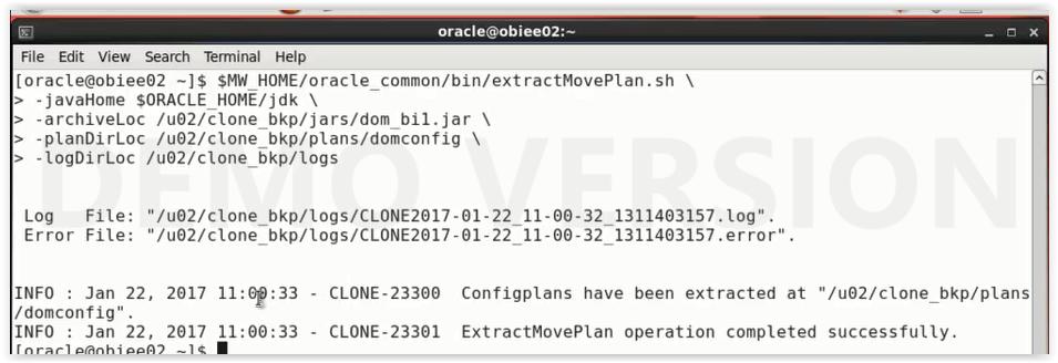 OBIEE 11g Cloning using T2P process !!